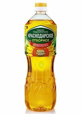 Масло подсолнечное рафинированное дезодорированное Краснодарское тм