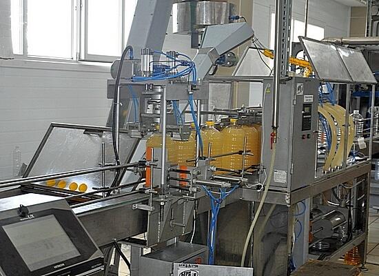 Линия разлива подсолнечного масла в ПЭТ бутылки