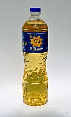 """Масло подсолнечное """"Живой Янтарь"""" 1 литр"""