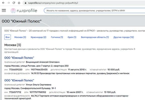 Выбор и оценка надежности поставщика Информация сведения об организации на порталах в интернете